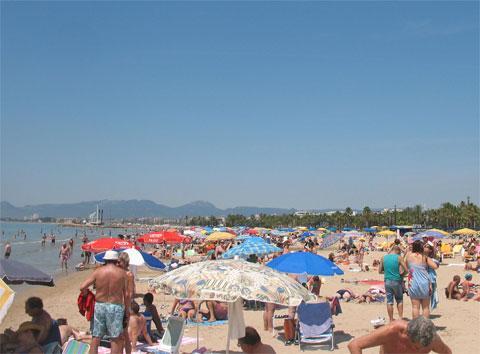 Пляж Льевант в Салоу