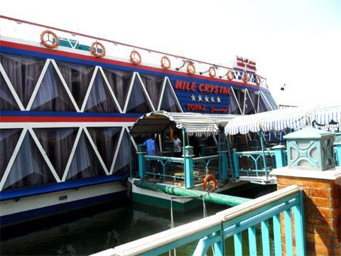 Плавучий ресторан, на котором ездили в круиз по Нилу