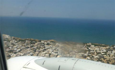 Монастир - вид с самолета