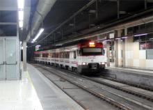 Поезд в Барселоне