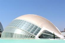 L'Hemisfèric в городе искусств и наук в Валенсии